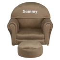 Kids Personalized Microfiber Rocker