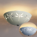 Dragonfly Ceramic Ceiling Light