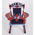 Fly Boy Airplane Child Rocker