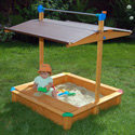 Deluxe Sandbox with Toy Box/Bench