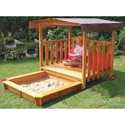 2-in-1 Playhouse 'n Sandbox