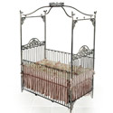 Garden Jewel Iron Baby Crib