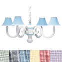 Gingham Scroll Chandelier