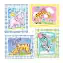Gingham Animal Wall Art