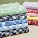 Gingham Round Crib Sheet