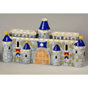 Ceramic Royal Castle Menorah