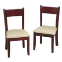 Children's Chair Set with Upholstered Seat