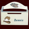 Personalized Handpainted Baseball Toy Box