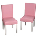 Children's Chair Set with Upholstered Seat and Back