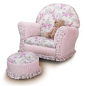 Kid's Floral Chenille Premier Rocking Chair