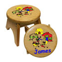 Personalized 3 Little Pigs Stool