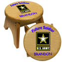 Personalized U.S. Army Stool