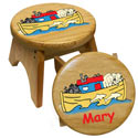 Personalized Noah's Ark Stool