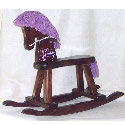 Personalized Purple Beauty Rocking Horse