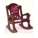 Personalized Ladybug Wooden Rocking Chair