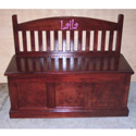 Personalized Hand Crafted Toy Box Bench