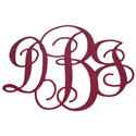 Custom Scroll Letters Monogram Wall Art