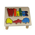 Cars Puzzle Name Stool