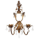 2 Arm Country French Candle Hanging Wall Sconce