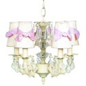 5 Arm Bow Shade Chandelier