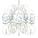 White Carriage 5 Arm Chandelier