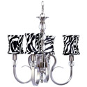Zebra Hampton 4 Arm Chandelier