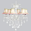 Fresh Scent 6 Arm Glitz Chandelier