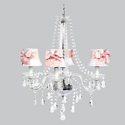Pink Bow 4 Arm Middleton Chandelier
