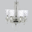 Pom Pom 6 Arm Middleton Chandelier