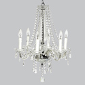 6 Arm Middleton Glass Chandelier