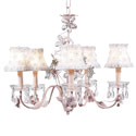 Crystal Flower Pink Chandelier