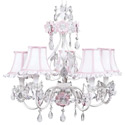 White 'n Pink  Flower Garden Chandelier
