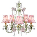 Daisy Pearl 5 Arm Flower Garden Chandelier