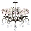 Elegance Rose 5 Arm Chandelier