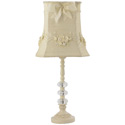 Ivory Floral Bouquet Lamp