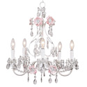 Flower Garden 5 Arm Chandelier