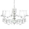 White Glass Turret Chandelier