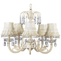 Ivory Skirt Dangle Waterfall Chandelier
