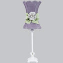 Lavender Hourglass Rose Lamp