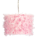 Pink Feather Pendant Light