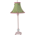 Gingham Rosebud Lamp
