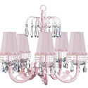 Pink Pearl Flower Waterfall Chandelier