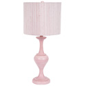 Pink 'n White Striped Drum Lamp