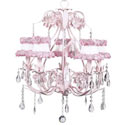 Rose Ballroom 5 Arm Chandelier