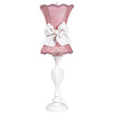 Pink Scallop Hourglass Lamp