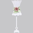 Hourglass Rose Lamp