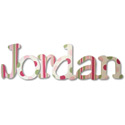 Jordan's Patterns Wall Letters