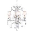 Flower Petal 4 Arm Valentino Chandelier