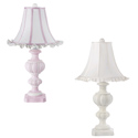 Urn Base with Ruffled Shade Lamp