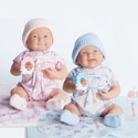 Cuddly Twin Dolls with Gift Set